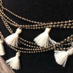 Fossil Mini Tassel Necklace/Bracelet Aged Gold NEW